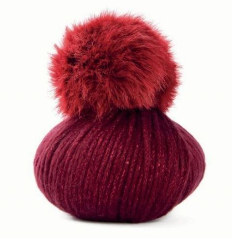 Lady Lame pompom hat wool 100g